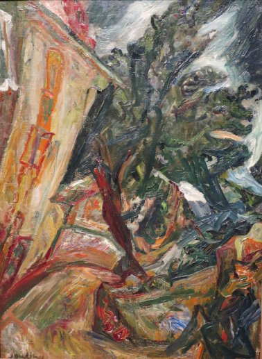 Chaim Soutine--Landscape With Figures
