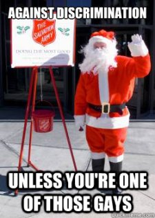 Salvation Army Discrimination