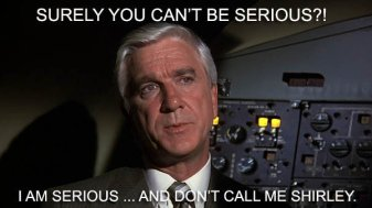 Any opportunity to include Leslie Nielsen I will take.
