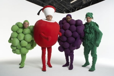 Okay, that's grapes, apple, racist purple grapes, aaaannnnddd cannabis? Marijuana isn't a fruit, it's a vegetable, we all know that. What's the deal, Fruit of the Loom, you couldn't think of one more fruit? You only have two fruit varieties in your mascots/logo. Lazy.