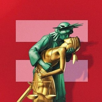 I don't think the Human Rights Campaign (HRC) necessarily authorized this use of their symbol (that's the background, not the make out).