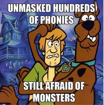 shaggy and scooby still afraid of monsters