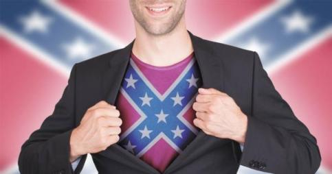 Oh no, you're not a super anything, definitely not a hero. That's like Lex Luthor passing himself off as a hero. In case anyone is confused, the Confederate flag is absolutely a symbol of racism. I welcome a dissenting opinion, but I have empirical evidence on my side, so good luck with that.