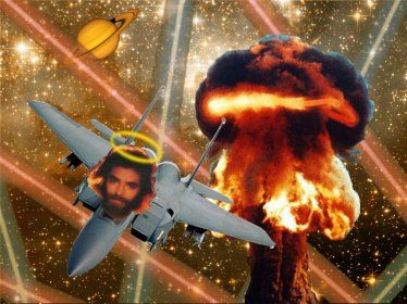 I'm pretty sure this is the story board for Top Gun. And that's Kenny Loggins, not Jesus's face.