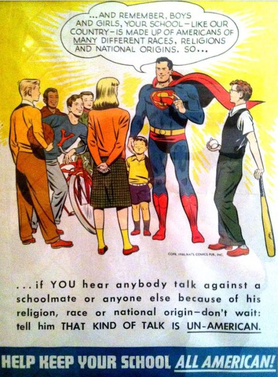 Shut up, Superman, you ILLEGAL immigrant!