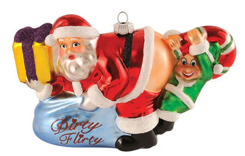 inappropriate Santa Ornament