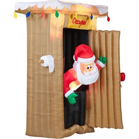 pooping santa
