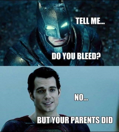 Superman is harsh