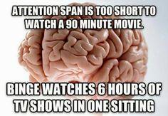 scumbag brain meme attention span