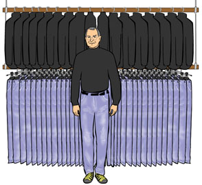 If you went home with a dude and saw his closet looked like this, you'd assume he's a serial killer, right?