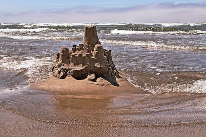 sandcastle-at-low-tide