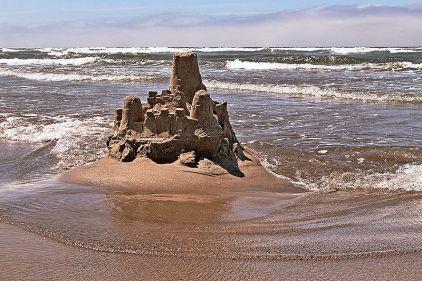 sandcastle-at-low-tide